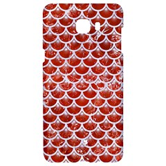 Scales3 White Marble & Red Marble Samsung C9 Pro Hardshell Case  by trendistuff