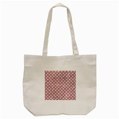 Scales2 White Marble & Red Marble (r) Tote Bag (cream) by trendistuff