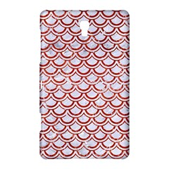 Scales2 White Marble & Red Marble (r) Samsung Galaxy Tab S (8 4 ) Hardshell Case  by trendistuff