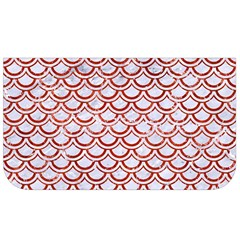 Scales2 White Marble & Red Marble (r) Lunch Bag