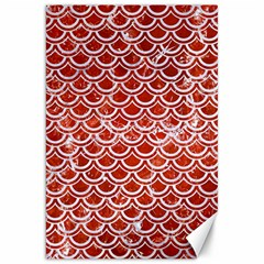 Scales2 White Marble & Red Marble Canvas 20  X 30   by trendistuff