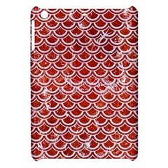 Scales2 White Marble & Red Marble Apple Ipad Mini Hardshell Case by trendistuff