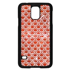 Scales2 White Marble & Red Marble Samsung Galaxy S5 Case (black) by trendistuff