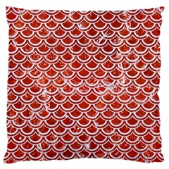 Scales2 White Marble & Red Marble Standard Flano Cushion Case (one Side) by trendistuff
