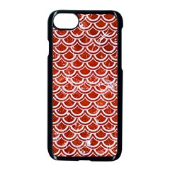 Scales2 White Marble & Red Marble Apple Iphone 7 Seamless Case (black) by trendistuff