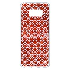 Scales2 White Marble & Red Marble Samsung Galaxy S8 Plus White Seamless Case by trendistuff