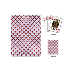 Scales1 White Marble & Red Marble (r) Playing Cards (mini)  by trendistuff