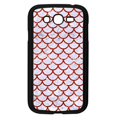 Scales1 White Marble & Red Marble (r) Samsung Galaxy Grand Duos I9082 Case (black) by trendistuff