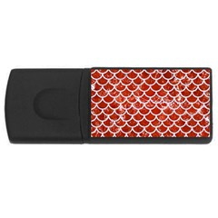 Scales1 White Marble & Red Marble Rectangular Usb Flash Drive by trendistuff