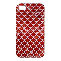 Scales1 White Marble & Red Marble Apple Iphone 4/4s Hardshell Case by trendistuff