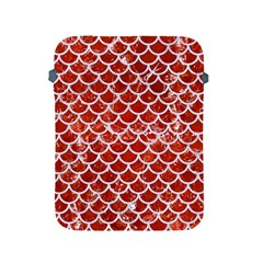 Scales1 White Marble & Red Marble Apple Ipad 2/3/4 Protective Soft Cases by trendistuff