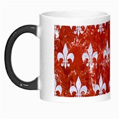 Royal1 White Marble & Red Marble (r) Morph Mugs by trendistuff