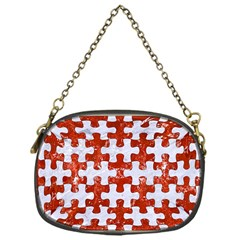 Puzzle1 White Marble & Red Marble Chain Purses (one Side)