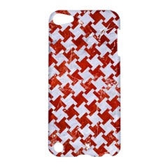 Houndstooth2 White Marble & Red Marble Apple Ipod Touch 5 Hardshell Case by trendistuff
