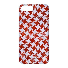 Houndstooth2 White Marble & Red Marble Apple Iphone 8 Plus Hardshell Case by trendistuff