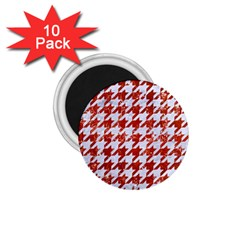 Houndstooth1 White Marble & Red Marble 1 75  Magnets (10 Pack)  by trendistuff