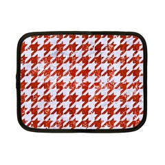 Houndstooth1 White Marble & Red Marble Netbook Case (small)  by trendistuff