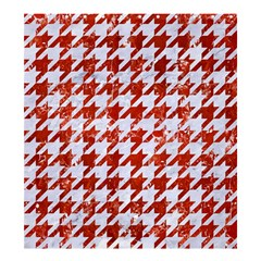 Houndstooth1 White Marble & Red Marble Shower Curtain 66  X 72  (large)  by trendistuff