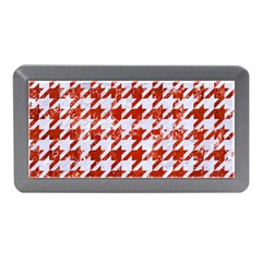 Houndstooth1 White Marble & Red Marble Memory Card Reader (mini) by trendistuff