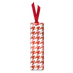 Houndstooth1 White Marble & Red Marble Small Book Marks by trendistuff