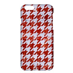 Houndstooth1 White Marble & Red Marble Apple Iphone 6 Plus/6s Plus Hardshell Case by trendistuff