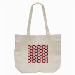Hexagon2 White Marble & Red Marble (r) Tote Bag (cream) by trendistuff
