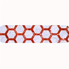 Hexagon2 White Marble & Red Marble (r) Large Bar Mats by trendistuff