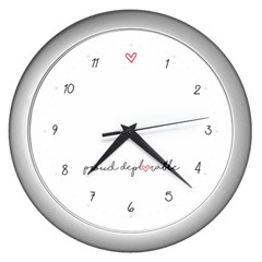 Proud Deplorable Maga Women For Trump With Heart And Handwritten Text Wall Clocks (silver)  by MAGA