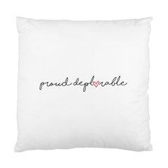 Proud Deplorable Maga Women For Trump With Heart And Handwritten Text Standard Cushion Case (one Side)