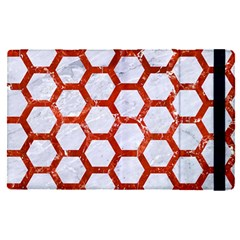 Hexagon2 White Marble & Red Marble (r) Apple Ipad Pro 12 9   Flip Case by trendistuff