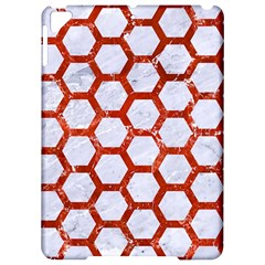 Hexagon2 White Marble & Red Marble (r) Apple Ipad Pro 9 7   Hardshell Case by trendistuff