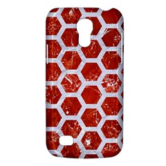 Hexagon2 White Marble & Red Marble Galaxy S4 Mini by trendistuff