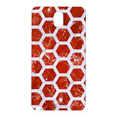 Hexagon2 White Marble & Red Marble Samsung Galaxy Note 3 N9005 Hardshell Back Case