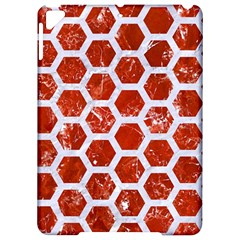 Hexagon2 White Marble & Red Marble Apple Ipad Pro 9 7   Hardshell Case by trendistuff