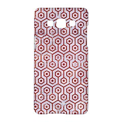 Hexagon1 White Marble & Red Marble (r) Samsung Galaxy A5 Hardshell Case