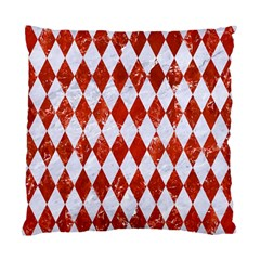 Diamond1 White Marble & Red Marble Standard Cushion Case (one Side) by trendistuff