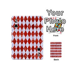 Diamond1 White Marble & Red Marble Playing Cards 54 (mini)  by trendistuff