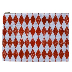 Diamond1 White Marble & Red Marble Cosmetic Bag (xxl)  by trendistuff