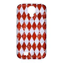 Diamond1 White Marble & Red Marble Samsung Galaxy S4 Classic Hardshell Case (pc+silicone) by trendistuff