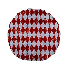 Diamond1 White Marble & Red Marble Standard 15  Premium Flano Round Cushions by trendistuff