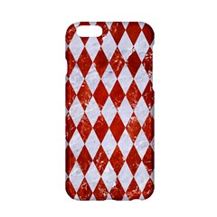 Diamond1 White Marble & Red Marble Apple Iphone 6/6s Hardshell Case by trendistuff