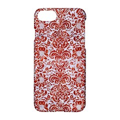 Damask2 White Marble & Red Marble (r) Apple Iphone 8 Hardshell Case by trendistuff