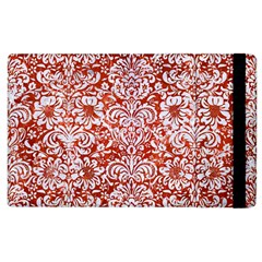 Damask2 White Marble & Red Marble Apple Ipad 3/4 Flip Case