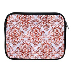 Damask1 White Marble & Red Marble (r) Apple Ipad 2/3/4 Zipper Cases by trendistuff
