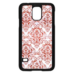 Damask1 White Marble & Red Marble (r) Samsung Galaxy S5 Case (black) by trendistuff