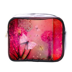Wonderful Butterflies With Dragonfly Mini Toiletries Bags by FantasyWorld7