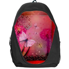Wonderful Butterflies With Dragonfly Backpack Bag by FantasyWorld7