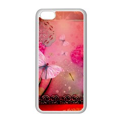 Wonderful Butterflies With Dragonfly Apple Iphone 5c Seamless Case (white) by FantasyWorld7
