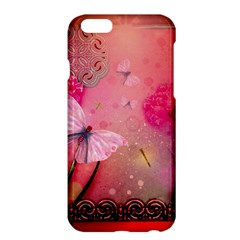 Wonderful Butterflies With Dragonfly Apple Iphone 6 Plus/6s Plus Hardshell Case by FantasyWorld7