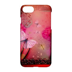 Wonderful Butterflies With Dragonfly Apple Iphone 8 Hardshell Case by FantasyWorld7
